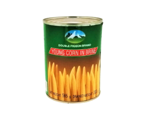 Picture of DOUBLE PIGEON YOUNG CORN IN BRINE 565G