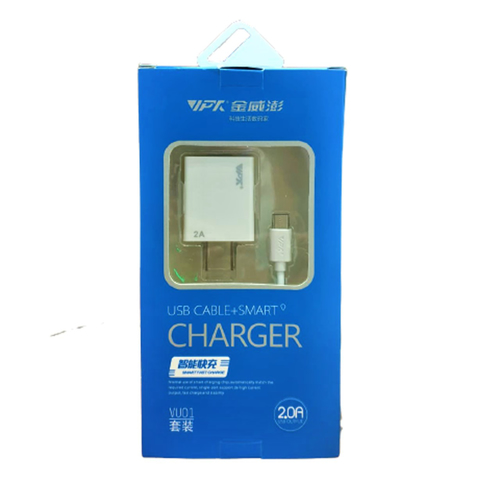 Picture of VIP TEK USB Cable+Smart Charger (VU 01) 2A