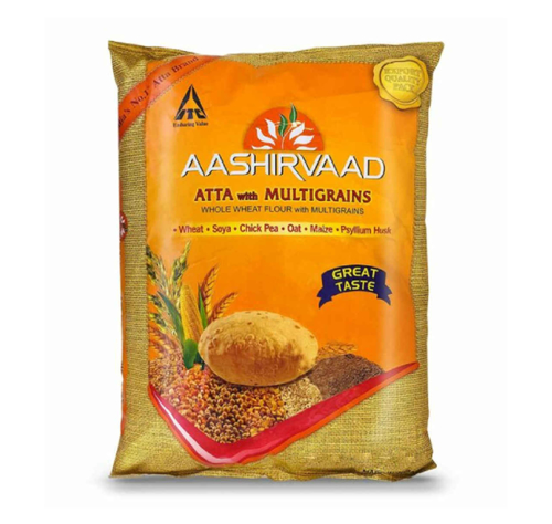 Picture of AASHIRVAAD WHOLE WHEAT FLOUR WITH MULTIGRAINS 2KG