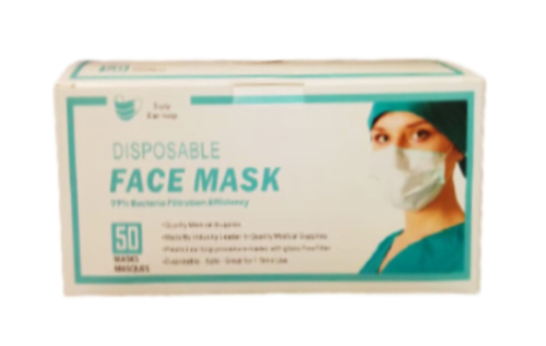 Picture of FACE  MASK  3-PLY (50'S)