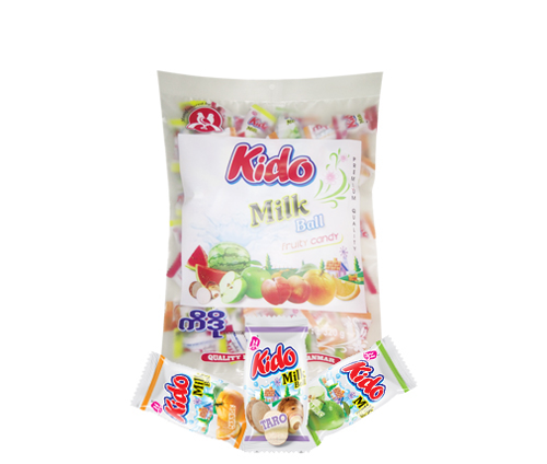 Picture of KIDO MILK BALL FRUITY JELLY CANDY 160G