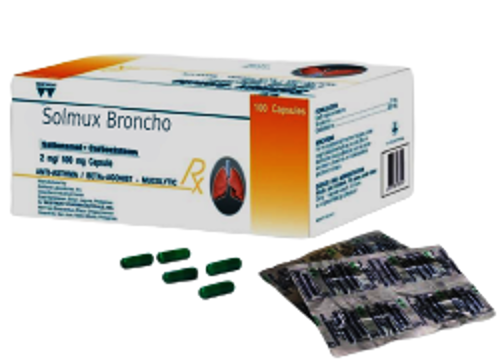 Picture of SOLMUX BRONCHO CAPSULES 4`S