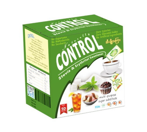 Picture of NATURALLY CONTROL STEVIA & ERYTHRITOL SWEETENER 1GX50PC/BOX